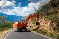 Excavator repair the road. Stock Photography
