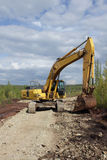Excavator.  Stock Image
