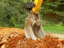 Excavator at rest Royalty Free Stock Image
