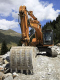 Excavator - Road Construction Royalty Free Stock Photos