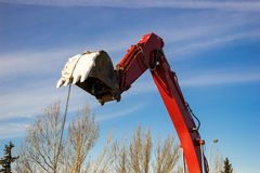Excavator's bucket Royalty Free Stock Photography