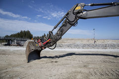 Excavator with a scoop Stock Image