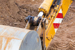 Excavator scoop Stock Photography