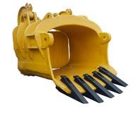 Excavator scoop isolated Stock Photo