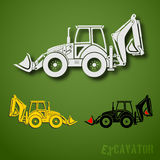 Excavator set Stock Photo