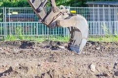 Excavator shovel Stock Photo