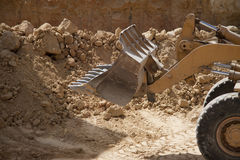 Excavator shovel Royalty Free Stock Images