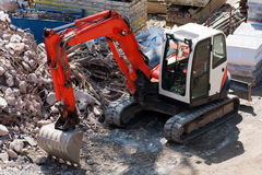 Excavator on site Stock Photo