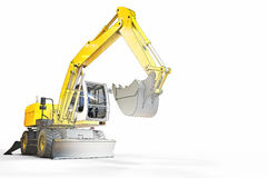 Excavator sketch and Construction Royalty Free Stock Images