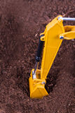 Excavator on Soil Stock Images