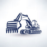 Excavator symbol Royalty Free Stock Photo