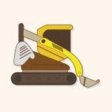 Excavator theme elements vector,eps Stock Image