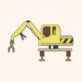 Excavator theme elements vector,eps Stock Images