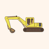 Excavator theme elements vector,eps Royalty Free Stock Images