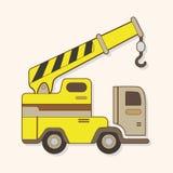 Excavator theme elements vector,eps Royalty Free Stock Photo