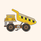 Excavator theme elements vector,eps Stock Photo