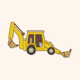 Excavator theme elements vector,eps Stock Photo