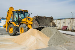 Excavator in the town. Varna Bulgaria Stock Photography