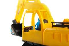 Excavator toy isolated on white background Royalty Free Stock Photo