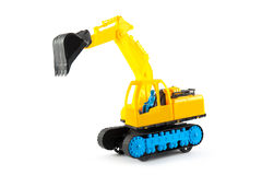 Excavator toy isolated on white background Royalty Free Stock Photography