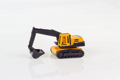Excavator toy on isolated Stock Image