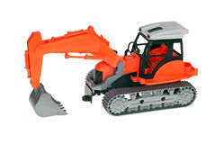 Excavator toy Royalty Free Stock Images