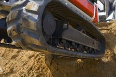 Excavator track. Excavator on a work site stock image