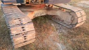 Excavator tracks Stock Images