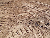 Excavator Tracks  Royalty Free Stock Images