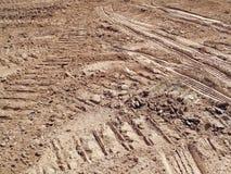 Excavator Tracks  Royalty Free Stock Images