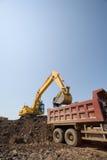 Excavator & truck stock photos
