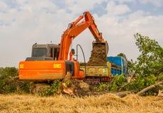 Excavator truck working Stock Photos