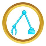 Excavator vector icon Royalty Free Stock Image