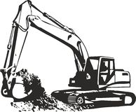 Excavator. Vector illustration of an excavator Stock Photos