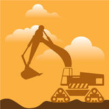 Excavator Vector Royalty Free Stock Images