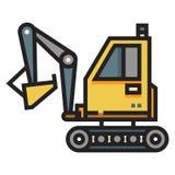 Excavator LineColor illustration vector illustration