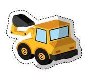 Excavator vehicle isometric icon Royalty Free Stock Photo