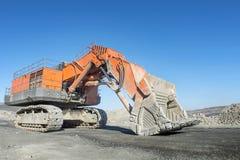 Excavator is waiting Stock Image