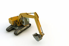 Excavator. On white background Stock Images