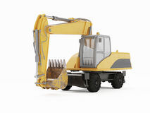 Excavator on a white background. Royalty Free Stock Photography