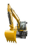 Excavator on a white background Stock Images