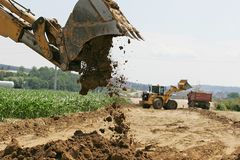 Excavator at work Royalty Free Stock Photo