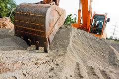 Excavator at work Royalty Free Stock Photography