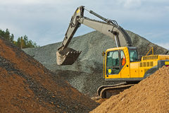 Excavator in work Royalty Free Stock Image