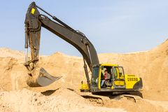 Excavator at Work Royalty Free Stock Images