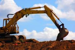Excavator working Stock Photo