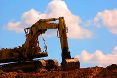 Excavator working Royalty Free Stock Photos