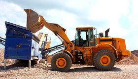 Excavator working Stock Photo