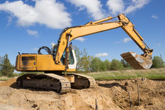 Excavator working Royalty Free Stock Images