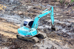 Excavator working Royalty Free Stock Photo
